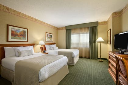 Queen Beds | 2 Room Corner Suite - 2 Double Beds | Embassy Suites by Hilton Charleston Airport Hotel & Convention Center