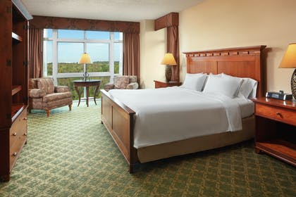 Presidential Suite Bedroom.jpg | 2 Room Presidential Suite - 1 King Bed | Embassy Suites by Hilton Charleston Airport Hotel & Convention Center