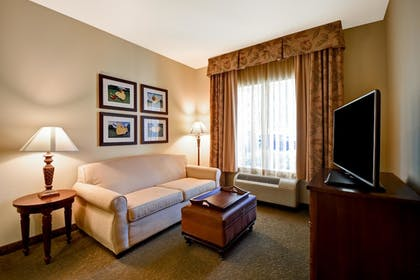 Living Area | 1 King Bed 1 Bedroom Suite | Homewood Suites by Hilton Charleston Airport