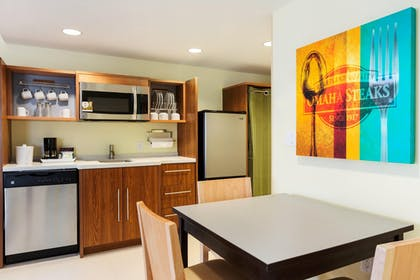 King Bedroom Suite Kitchen | Home2 Suites by Hilton Omaha West, NE