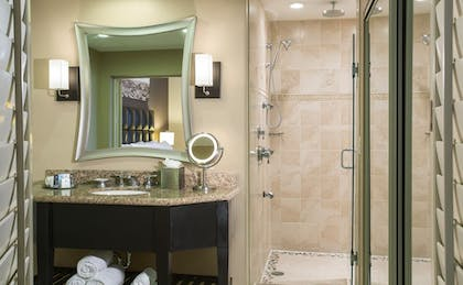 King Bed Suite Bathroom | 1 King Bed Suite Nonsmoking + Two Queen Beds Nonsmoking | Crowne Plaza Orlando-Downtown
