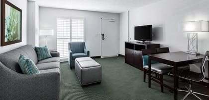 Living room | 2 Room Suite-2 Queen Beds Poolside + 2 Room Suite-1 King Bed Poolside | Embassy Suites by Hilton Orlando Lake Buena Vista Resort