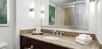 Bathroom | 2 Room Suite-2 Queen Beds Poolside + 2 Room Suite-1 King Bed Poolside | Embassy Suites by Hilton Orlando Lake Buena Vista Resort