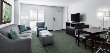Living room | 2 Room Suite - 2 Queen Beds - Balcony | Embassy Suites by Hilton Orlando Lake Buena Vista Resort