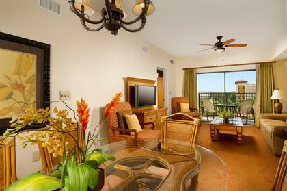 Living Room | Two Bedroom Grand Suite | Floridays Resort