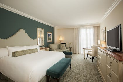 King Bed | 1-Bedroom King Hospitality Parlor Suite + Garden View Queen | Loews Portofino Bay Hotel at Universal Orlando™
