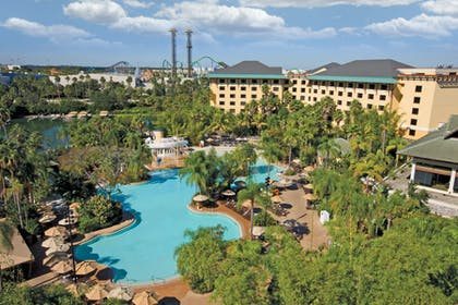 Aerial Pool View | Universal's Loews Royal Pacific Resort™