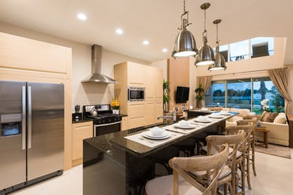 Kitchen | Dining Area | 3 Bedroom Villa Pool View with BBQ & Jacuzzi | Magic Village Yards