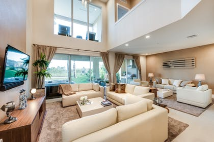 Living Room | 3 Bedroom Villa Pool View with BBQ & Jacuzzi | Magic Village Yards