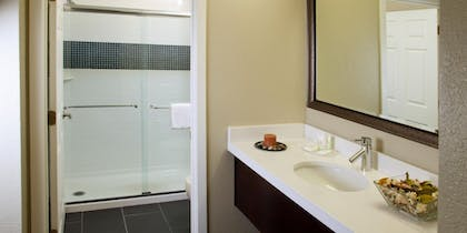 Bathroom  | Trio Two Bedroom Pool View Suite | Staybridge Suites Lake Buena Vista