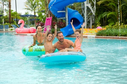 Family on Floats | The Grove Resort & Spa Orlando