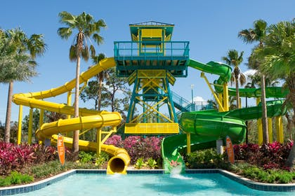 Main Slides with Model | The Grove Resort & Water Park Orlando