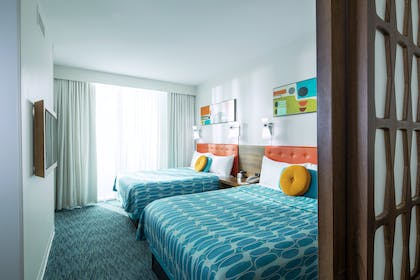 Family Suite Bedroom | Family Suite - Interior Entry | Universal's Cabana Bay Beach Resort