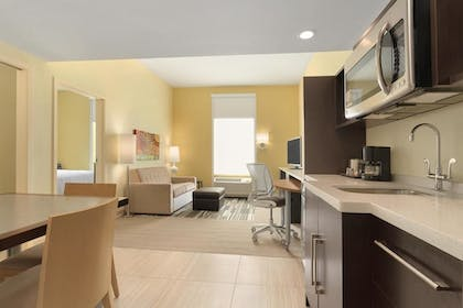 One Bedroom Suite Living Room | 1 King Bed 1 Bedroom Suite | Home2 Suites by Hilton Pittsburgh / McCandless, PA