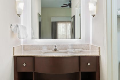 King Suite Bathroom | Homewood Suites Raleigh-Crabtree Valley