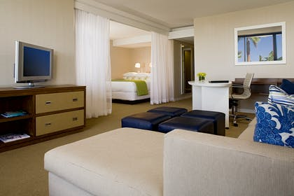 Bedroom and Living area | Corner Suite | Hyatt Regency Mission Bay Spa and Marina