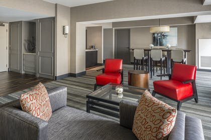 Suite living area | Hospitality Suite - King Room | Manchester Grand Hyatt San Diego
