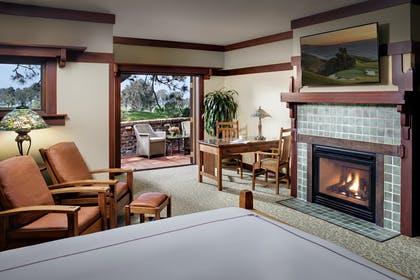 Fireplace | Gamble Suite | The Lodge at Torrey Pines
