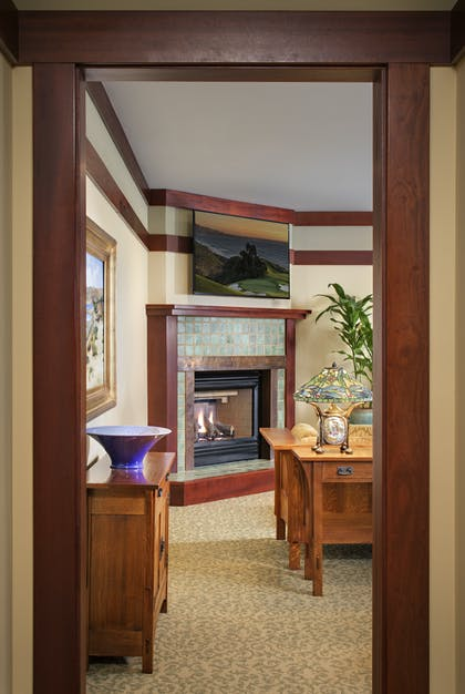 Fireplace | Thorsen Suite | The Lodge at Torrey Pines