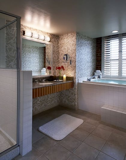 Bathroom | King Suite + Deluxe 2 Queen Room | Argonaut Hotel