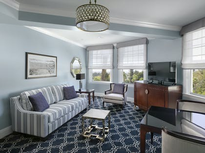 Living Room | One Bedroom Bay View Suite | Claremont Club & Spa, A Fairmont Hotel