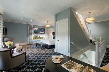 Living Room and Bedroom | Tower Suite King | Claremont Club & Spa, A Fairmont Hotel