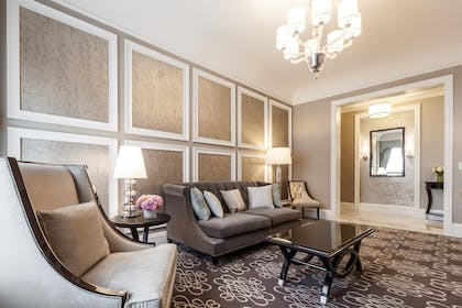 Living Room | Napoleon Two-Bedroom Suite | Fairmont San Francisco