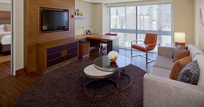 Living Room | Executive Suite City View + Standard King | Grand Hyatt San Francisco