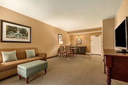 Living Area | 2 Room Premium Suite - 2 Queen Beds- Non-smoking | Embassy Suites by Hilton Hotel Savannah