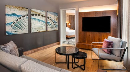 Living | 3 King Beds 3 Bedroom Water View Suite |  The Charter Hotel Seattle, Curio Collection by Hilton
