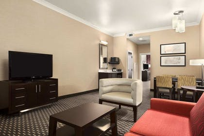 Living Area | 2 Room Premium Suite - 1 King Bed - Non-smoking | Embassy Suites by Hilton St. Louis Downtown