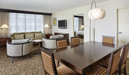 living-area-jpg.jpg | Presidential Suite Balcony - 1 King Bed + One Bedroom Balcony Suite | DoubleTree by Hilton Hotel Washington DC - Crystal City