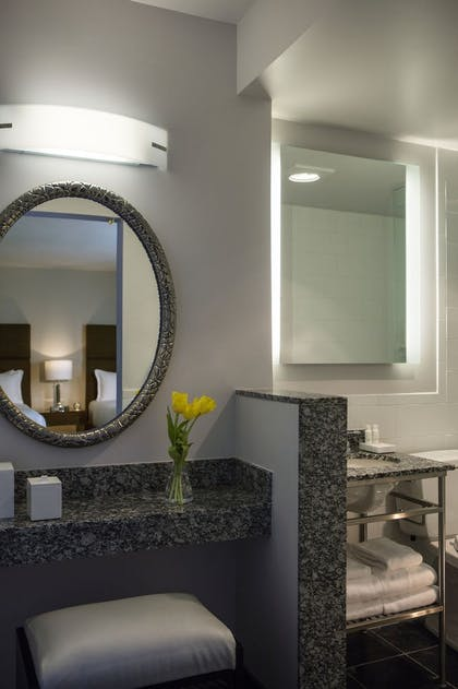 Bathroom 2 | Studio Queen Queen with Kitchenette | Kimpton Carlyle Hotel Dupont Circle