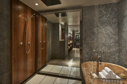 Shower and Bathtub | Ambassador Suite + Park Deluxe King | Park Hyatt Washington