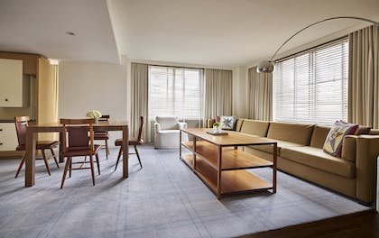 Dining and Living Area | Georgetown Suite + Park Deluxe King | Park Hyatt Washington