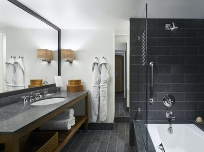 Park Deluxe Bathroom | Park Junior Suite + Park Deluxe Double | Park Hyatt Washington