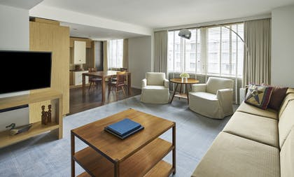 Park Executive Suite Livingroom and dining area | Presidential Suite + Park Executive Suite | Park Hyatt Washington