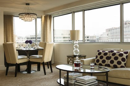 Living area | Luxury Suite with Balcony | The Dupont Circle Hotel